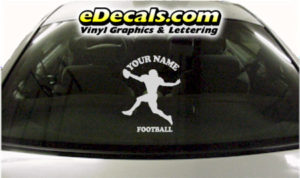 SPT231 Football Sports Your Name Cartoon Decal