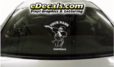 SPT233 Football Sports Your Name Cartoon Decal