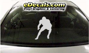 SPT239 Football Sports Player Cartoon Decal