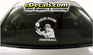 SPT248 Football Sports Your Name Cartoon Decal