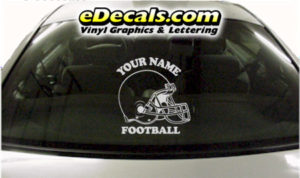 SPT250 Football Sports Your Name Cartoon Decal