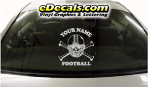SPT251 Football Sports Your Name Cartoon Decal