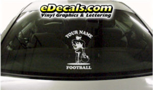 SPT252 Football Sports Your Name Cartoon Decal