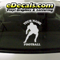 SPT253 Football Sports Your Name Cartoon Decal