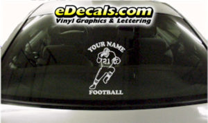 SPT254 Football Sports Your Name Cartoon Decal