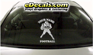 SPT255 Football Sports Your Name Cartoon Decal