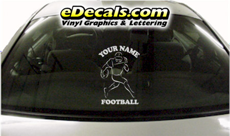 SPT257 Football Sports Your Name Cartoon Decal