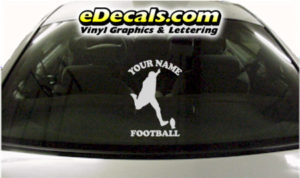 SPT258 Football Sports Your Name Cartoon Decal