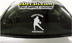 SPT259 Football Sports Your Name Cartoon Decal
