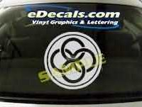 SYM105 Asian Symbol Decal