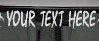 WSD108 Biohazard Accent Your Text Here Windshield Decal