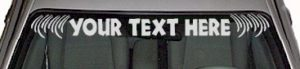 WSD133 Accent Your Text Here Windshield Decal