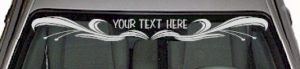 WSD136 Scroll Accent Your Text Here Windshield Decal