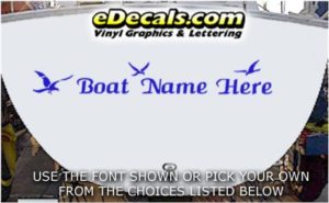 WSD401 SeaGull Your Name Here Boat Decal