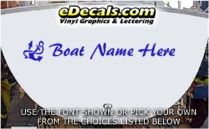 WSD402 Anchor Your Name Here Boat Decal