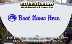 WSD403 Dolphin Circle Your Name Here Boat Decal