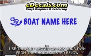 WSD404 Anchor II Your Name Here Boat Decal