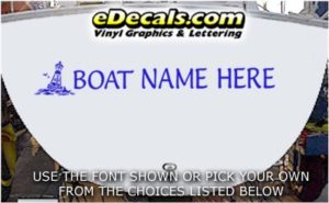 WSD405 Bouy Your Name Here Boat Decal