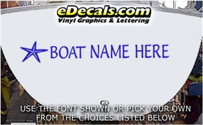 WSD406 Starfish Your Name Here Boat Decal