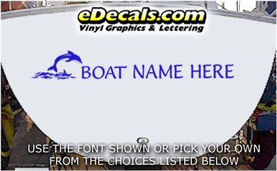 WSD408 Jumping Dolphin Your Name Here Boat Decal