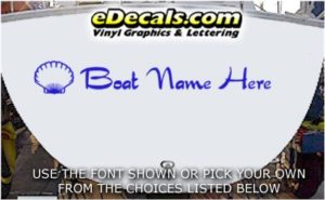 WSD409 Shell Your Name Here Boat Decal