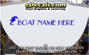 WSD410 Seahorse Your Name Here Boat Decal