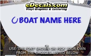 WSD417 Horseshoe Your Name Here Boat Decal