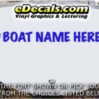 WSD418 Horseshoe Your Name Here Boat Decal