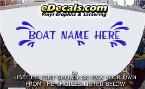 WSD421 Splash Your Name Here Boat Decal
