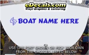 WSD422 Jumping Fish Your Name Here Boat Decal