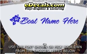 WSD425 Flowers Your Name Here Boat Decal