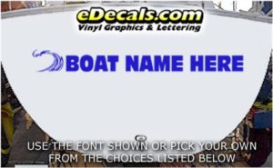 WSD427 Wave Your Name Here Boat Decal