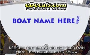 WSD428 Marine Flag Your Name Here Boat Decal