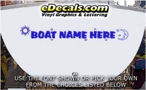 WSD429 Sun n Moon Your Name Here Boat Decal