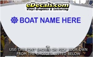 WSD430 Wheel Helm Your Name Here Boat Decal