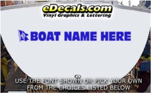 WSD431 Boat Flag Your Name Here Boat Decal