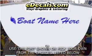 WSD432 Shell Your Name Here Boat Decal