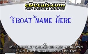 WSD433 Seagulls Pier Your Name Here Boat Decal