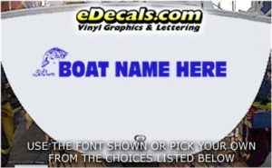 WSD434 Jumping Fish Your Name Here Boat Decal
