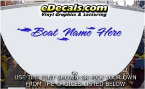 WSD435 Dolphins Your Name Here Boat Decal