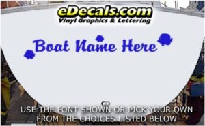 WSD436 Tropical Fish Your Name Here Boat Decal