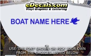 WSD437 Sea Turtle Your Name Here Boat Decal