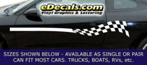 CFG207 Checkered Flag Decal