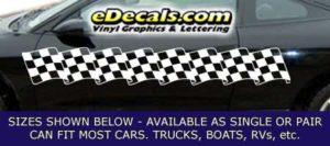 CFG208 Checkered Flag Decal