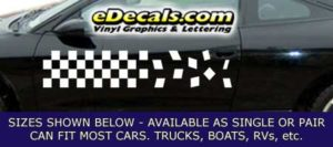 CFG213 Checkered Flag Decal