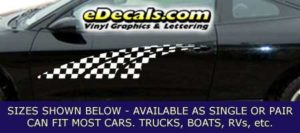 CFG214 Checkered Flag Decal