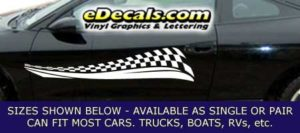 CFG220 Checkered Flag Decal