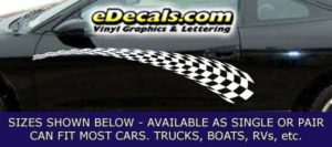 CFG229 Checkered Flag Decal