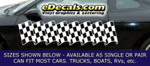 CFG233 Checkered Flag Decal