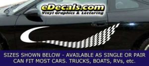 CFG237 Checkered Flag Decal